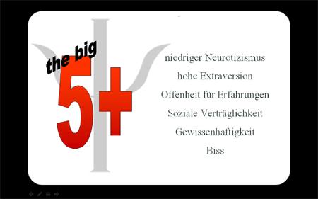 big five - Persönlichkeitstypen
